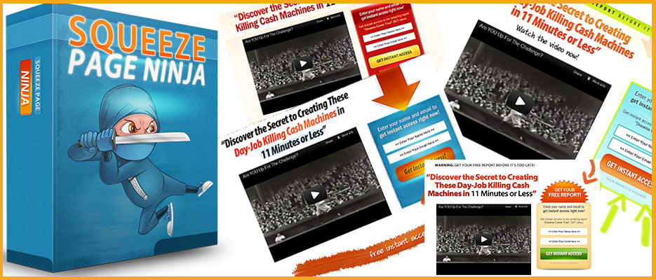 squeeze page ninja video squeeze page templates